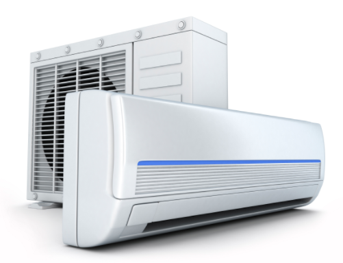 Indoor & Outdoor units of an AC installation