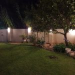 Garden wall lighting